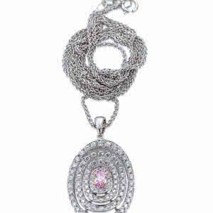 Ellisse Pink Diamond Pendant