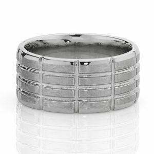 18ct white gold mens ring