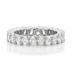 18ct white gold oval diamond eternity ring