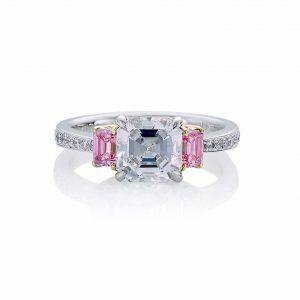 Verona pink diamond ring
