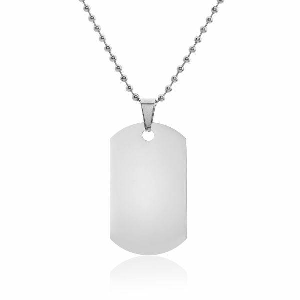 Stainless Steel plain pendant on ball chain