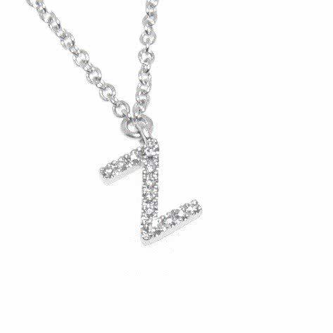 diamond initial Z necklace. Free shipping in Australia.