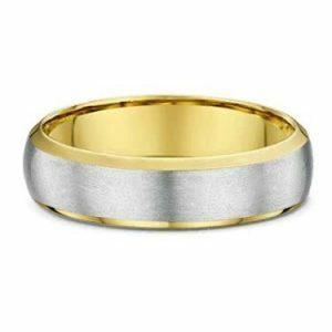 white yellow gold satin finish wedding ring australia's jeweller sydney melbourne