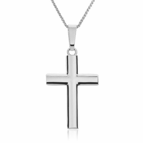 18ct White Gold Cross Pendant