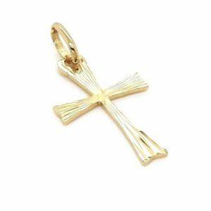 18ct Yellow Gold Cross Pendant