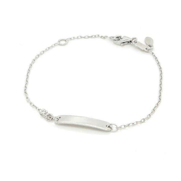 18ct white gold Diamond Baby ID bracelet