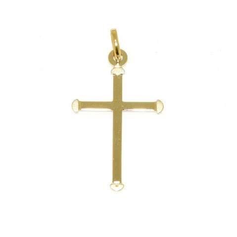 18ct yellow gold cross