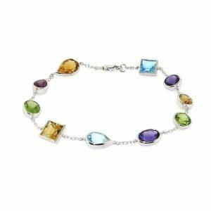 18ct white gold bezel bracelet