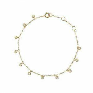 18ct yellow gold diamond bracelet
