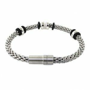 Stainless steel Men's mesh bracelet