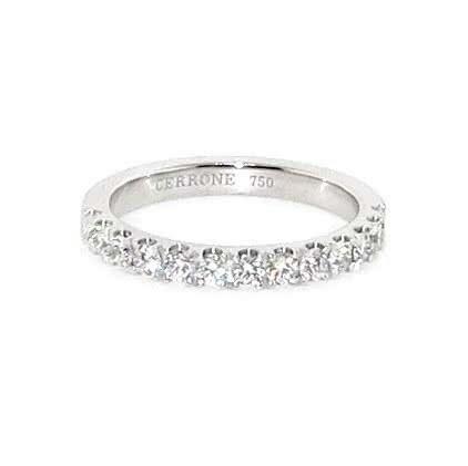 18ct white gold diamond band