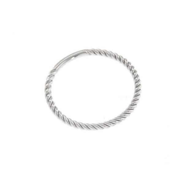 18ct white gold twist ring