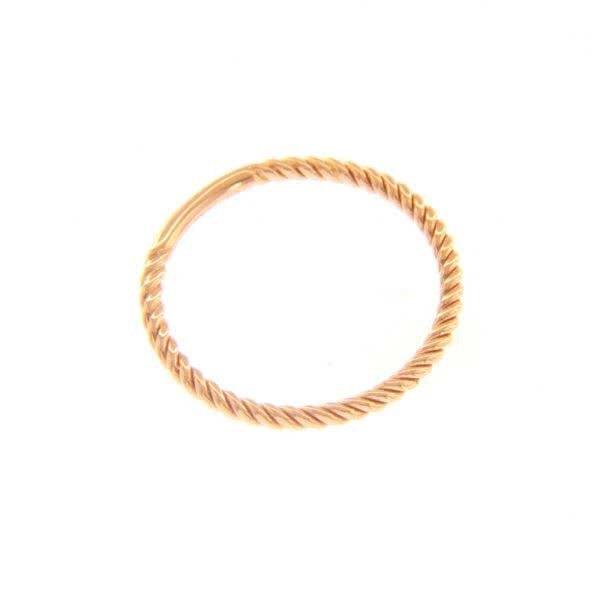 18ct rose gold twist ring