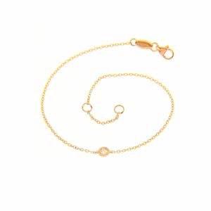 18ct rose gold diamond bracelet
