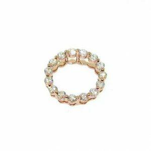 18ct rose gold diamond circle pendant