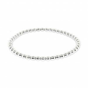 18ct white gold stretch ball bracelet