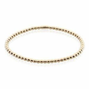 18ct yellow gold stretch ball bracelet