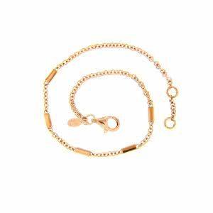 18ct rose gold bracelet