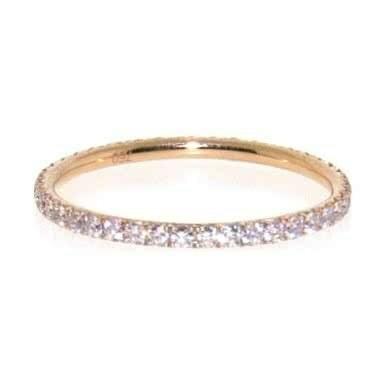 18ct rose gold pink diamond band