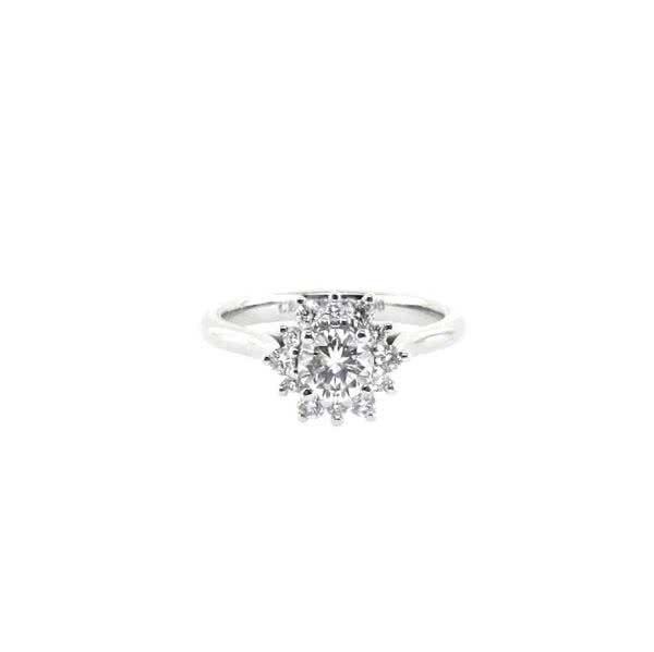 18ct white gold 0.50ct round brilliant cut diamond ring