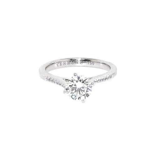 18ct white gold 1.06ct round diamond ring