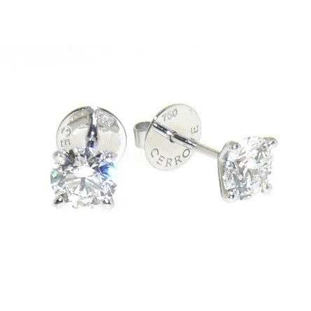 18ct white gold diamond stud earrings 2=0.60ct