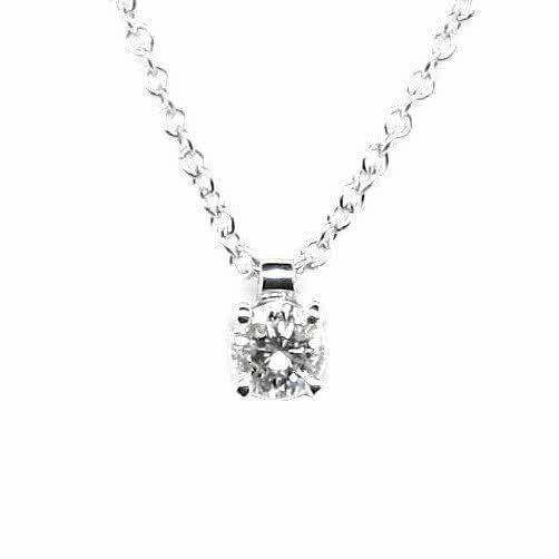 18ct white gold 0.18ct round diamond necklace