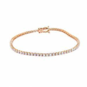 18ct rose gold diamond tennis bracelet