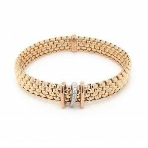 18ct rose gold expandable bracelet