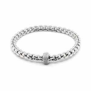 18ct white gold Fope expandable bracelet