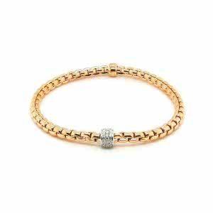 18ct rose gold expandable fope bracelet