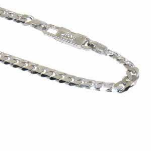18ct white gold gents bracelet