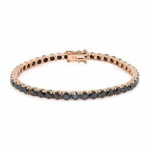18ct rose gold black diamond tennis bracelet