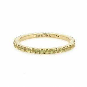 18ct yellow gold yellow sapphire ring