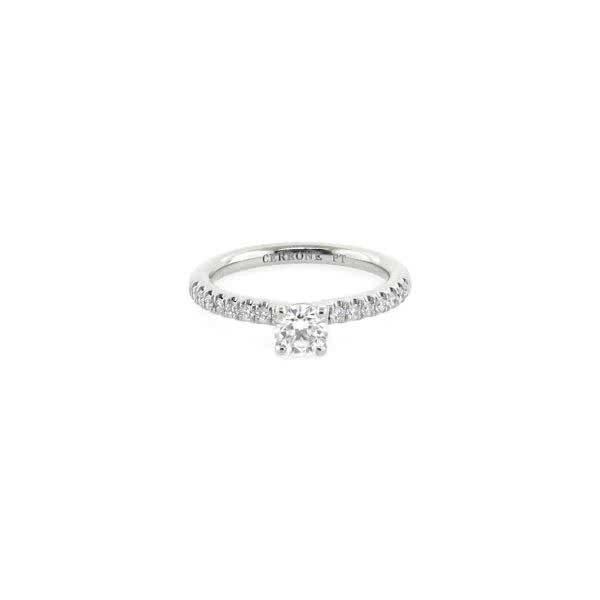 Platinum 0.40ct G SI1 round brilliant cut diamond