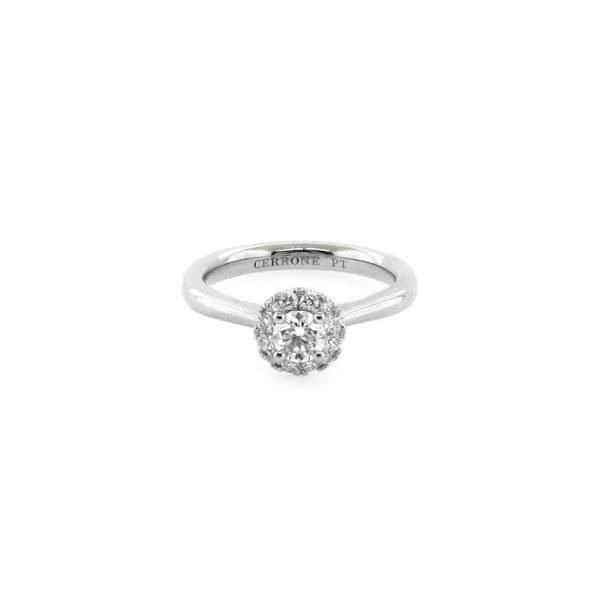Platinum 0.30ct round brilliant cut diamond ring