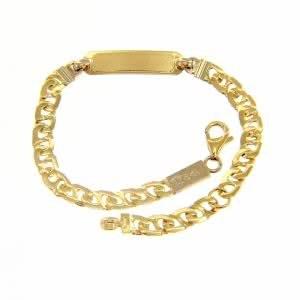 18ct yellow gold identity baby bracelet