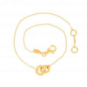 18ct yellow gold double circle bracelet