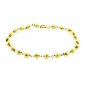 18ct yellow gold ball bracelet