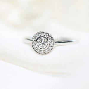 18ct white gold 0.24ct GH SI round diamond ring