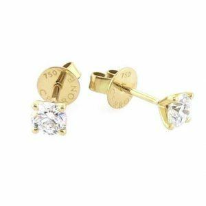 18ct yellow gold 2=0.60ct diamond stud earrings