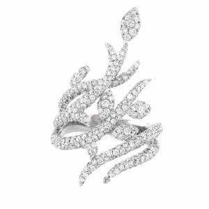 18ct white gold diamond set ring