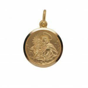 18ct yellow gold medallion