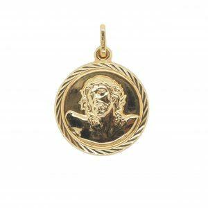 18ct Yellow Gold Jesus Medallion