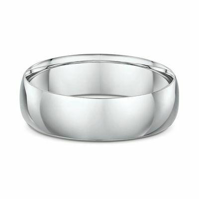 18ct white gold plain wedding ring