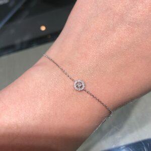 18ct white gold diamond bracelet
