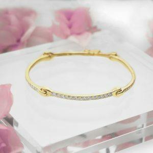 18ct yellow gold diamond Sensi Bangle