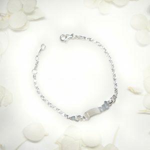 18ct White Gold Baby ID Bracelet