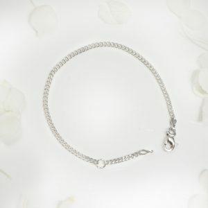 18ct white gold baby bracelet