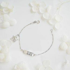 18ct white gold angel ID baby bracelet